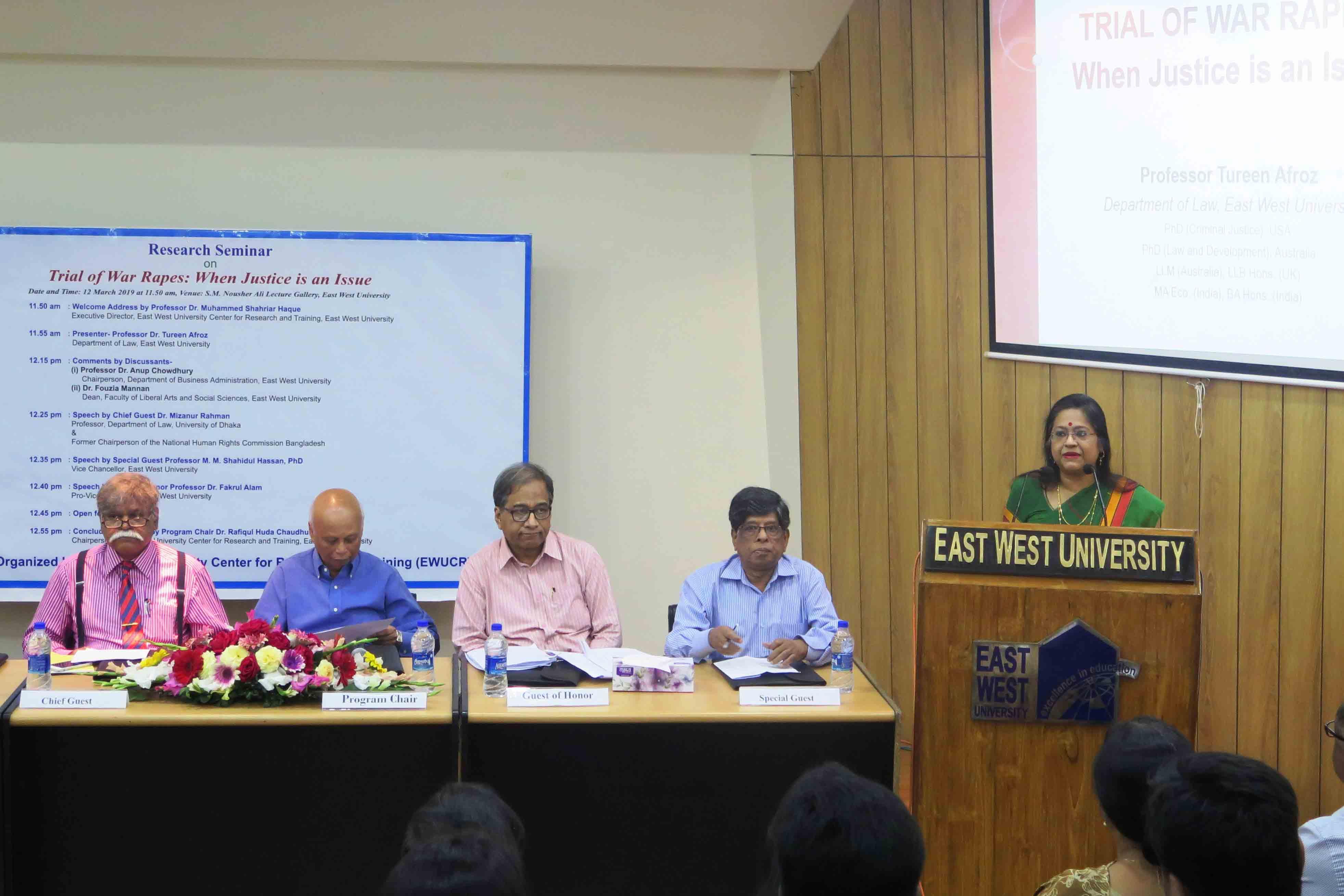 EWU Organizes a Research Seminar on War Rapes