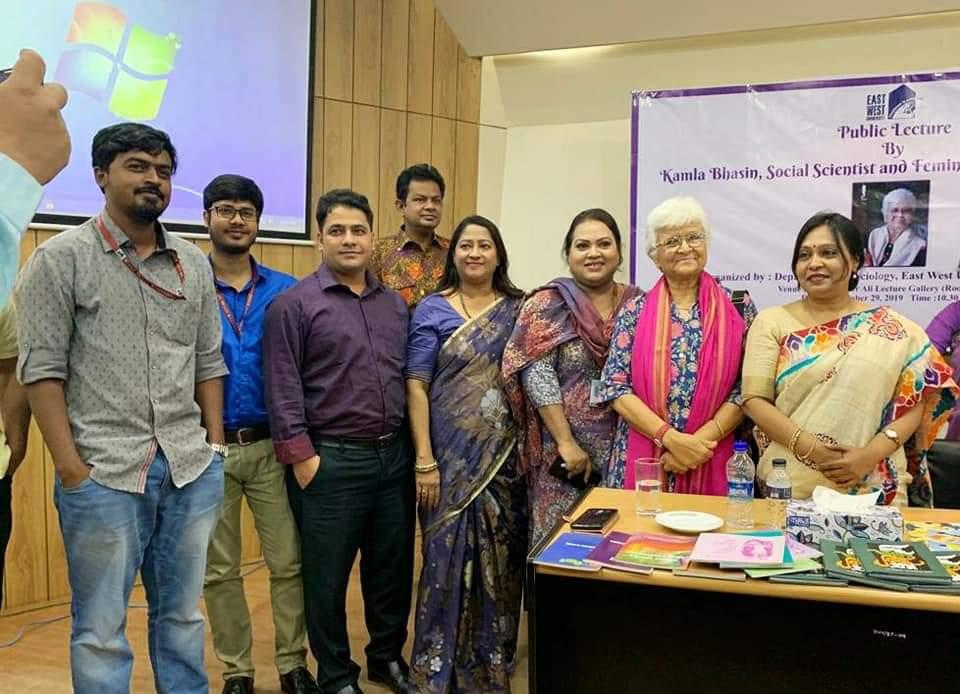 9) With Kamla Bhasin.